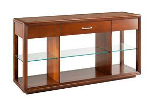 Villa Cinquanta Console 4571, Console en bois avec étagère en verre