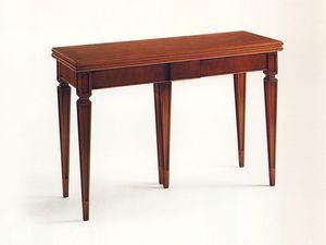 Wilburn, Console extensible en bois, placage de noyer