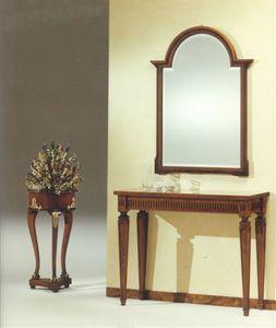 2555 CONSOLLE, Console classique de luxe, en bois massif sculpté à la main