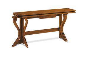 Art. 82, Console en bois transformable en table