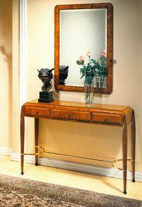 Art Déco Art.549 console, Art Dèco bureau avec dessus en cuir