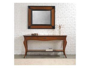 ASTRID consolle 8366K, Consolle de style classique en bois massif avec tiroirs