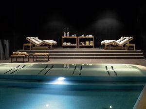 Barcode table de consolle, Console de bois de teck, pour spa et piscine
