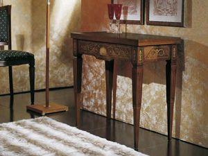 Canaletto console, Table console convertible en une table de jeu