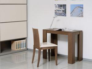 Compléments Tables et Consoles 11, Console extensible en bois et métal