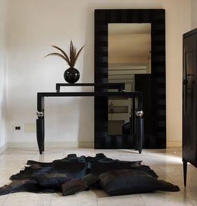 Righello, Console classique en bois et métal, de salons élégants