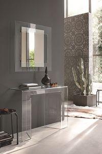 SAGITTA COC05, Console de verre incurvé et miroir adapté pour les environnements modernes