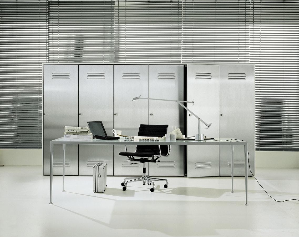 CITYBOX comp.02, Cabinet pour le bureau, avec la porte en acier