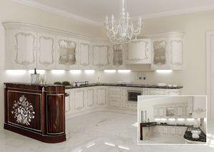 KT373, Cuisine classique, dessus de marbre, pour les villas classiques
