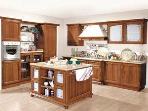 '800 cucina 200, Cuisine de style classique, en bois de noyer national