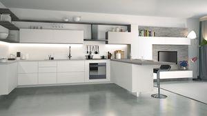Ice, Blanc laqué cuisine, élégante et technologique