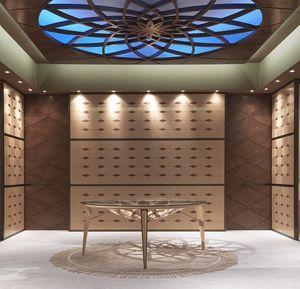 BOIS10 Galileo boiserie, Lambris en bois marqueté, pour les hôtels et restaurants
