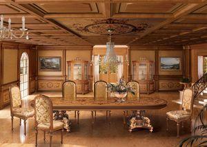 F604 Boiserie, Lambris incrusté dans le classique stile de luxe pour Dining Room