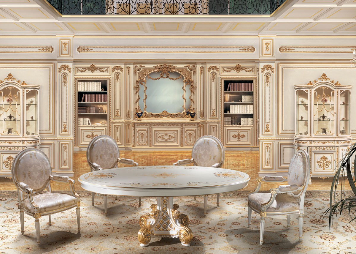 Blanc bois laqué lambris, pour les salons de luxe classique ...