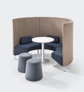 BASE, Système modulaire à absorption acoustique pour les zones de conversation