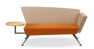 CORNER C2DT, Canapé pour la réception, avec table intégrée