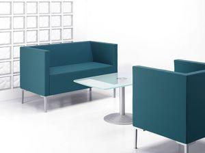 CUBIS DIVANO, Canapé en forme de carré avec pieds en aluminium