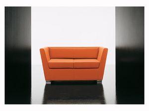 Double 2p, Canapé moelleux, avec des pieds en aluminium, pour salle d'attente