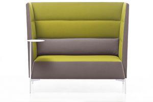 Kendo canapé haut dossier, Canapé idéal pour l'isolation acoustique, avec dossier haut
