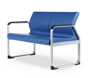 ONE 402 A, Canapé avec base en métal, idéal pour les salles d'attente