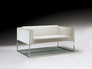 Square sofa, Canapé avec tube carré en acier, pour salle d'attente