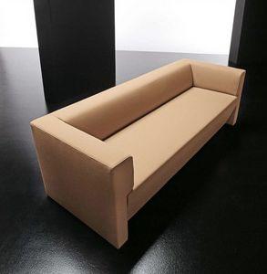 Toffee 3p, Simple et moderne canapé 3 places, avec cadre en bois