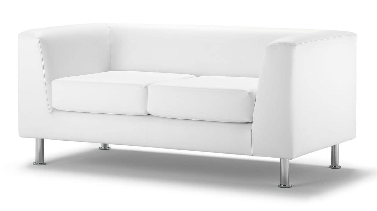 Wait 02, Rembourré canapé 2 places, pour le bureau moderne
