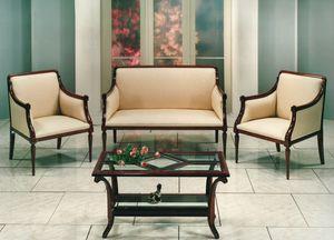 2090 DIVANO, Canapé en bois sculpté à la main, pour salon