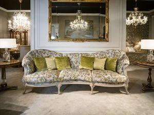 4960 Sofa, Canapé rembourré en tissu classique
