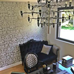 Angolo canapé avec accoudoir, Canapé de luxe dans un style contemporain et classique