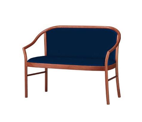 C12, Canapé classique en hêtre, pour salles d'attente