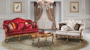 CASANOVA, Canapé classique très élégant, en velours