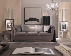 Genny, Sofa élégant dans un style contemporain et classique
