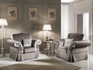 MORFEUS fauteuil, Fauteuil classique rembourré en tissu