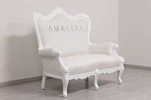 Regale, Canapé baroque blanc