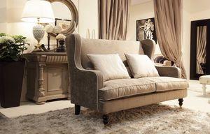 Venere canapé, Petit canapé pour les chambres classiques, disponibles avec des volants