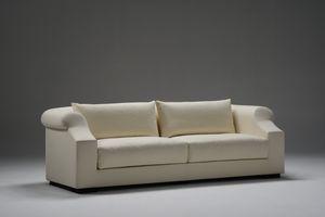 Ville Lumière, Sofá tapizado en tela fina, para la sala de estar contemporánea