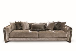 Voyage canapé, Canapé en velours et cuir, avec un design élégant