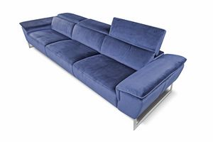 Bel Air, Canapé en tissu avec dossier réglable