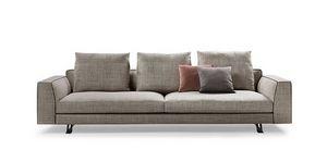 Burton, Canapé design avec coussins en duvet d'oie