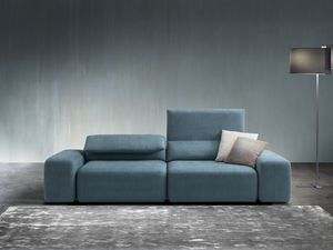 Gogò, Canapé avec sellerie entièrement amovible, avec un design contemporain