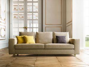 Palio, Canapé avec design linéaire et raffiné