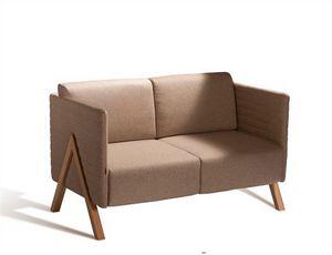 Vision 570S, Canapé avec revêtement en tissu, vinyle ou cuir