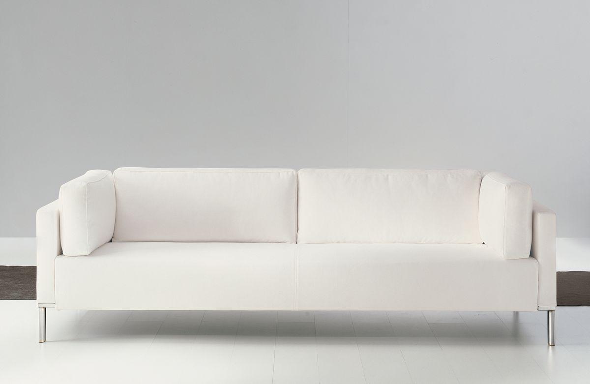 Albi', élégant canapé en bois, recouverte de fibres acryliques