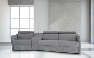 Alfred, Canapé moderne avec de nombreux accessoires