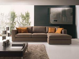 Artico, Moderne canapé d'angle, en tissu ou en cuir, pour se reposer