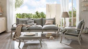 Bamboo sofa, Canapé en bois courbé, avec des sangles élastiques