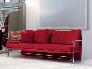 Block, élégant canapé en fer cadre visible, pour le bureau