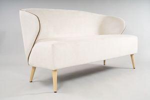 BS468L - Canapé, Petit canapé avec des côtés enveloppants