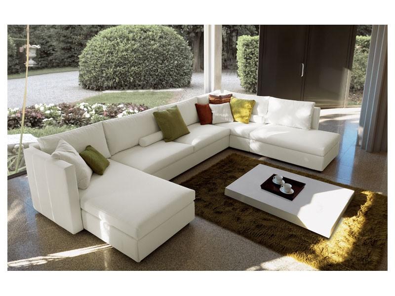 Company corner, Canapé modulable, entièrement déhoussable, design moderne